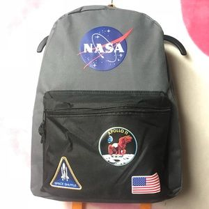 """Handbags - BuzzAldrin NASA Apollo 11 Backpack 16"""" Orange"""